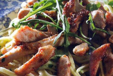Pork Stir-Fry With Tagliatelli