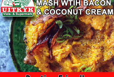 Roast Pumpkin Mash With Bacon & Coconut Cream