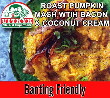 Roast Pumpkin Mash With Bacon & Coconut Cream