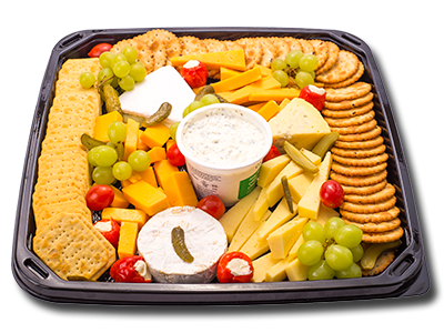 cheese and crackers platter uitkyk
