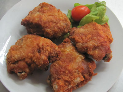 how to make crumbed chicken thighs