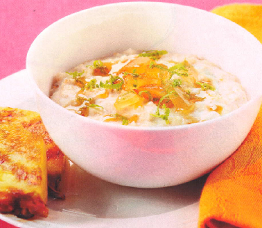 Coconut Oats with griddled pineapple