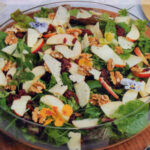 Apple Berrie and nut salad