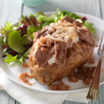french style beef baked potato